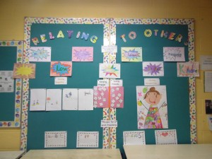 Our October SPHE display - Relating to others.