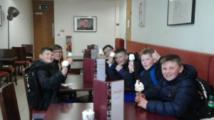 Finished off with a lovely ice-cream!